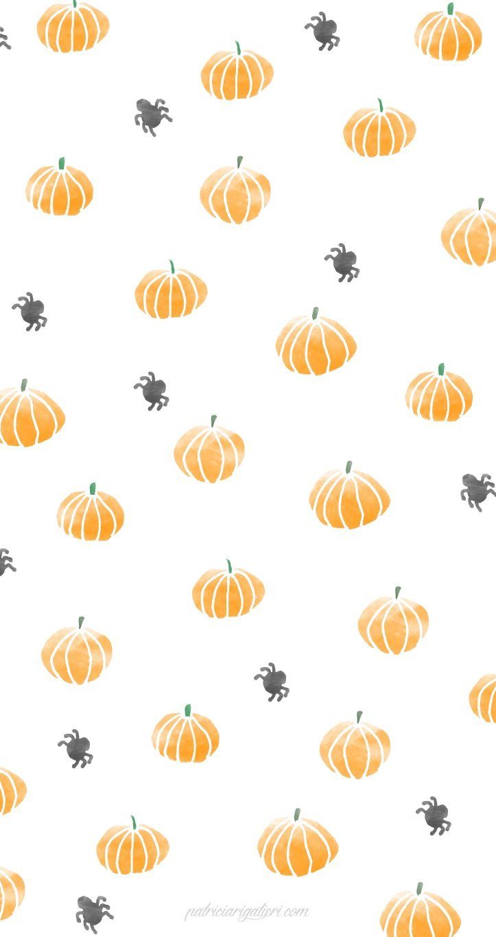 Pumpkins + spiders wallpaper Halloween wallpaper iphone