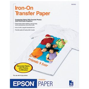 Epson Letter A Size 8 5 In X 11 In 10 Pcs Iron On Transfers For Ecotank Et 3600 Expression Et 3600 Expression Home Xp 434 Workforce Et 16500 Wf 2750 Transfer Paper Iron On Transfer Epson