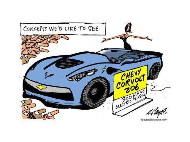 Corvolt Z06 Corvette Cartoon Chevy