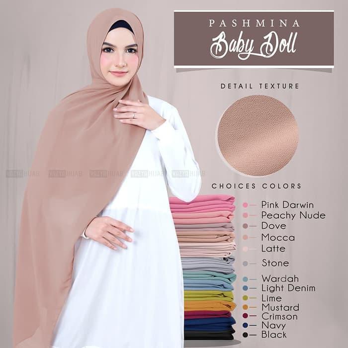 Hijab Pashmina Ceruti Babydoll 180 X 75 Terbaru Cantik Kecantikan Warna Hijab