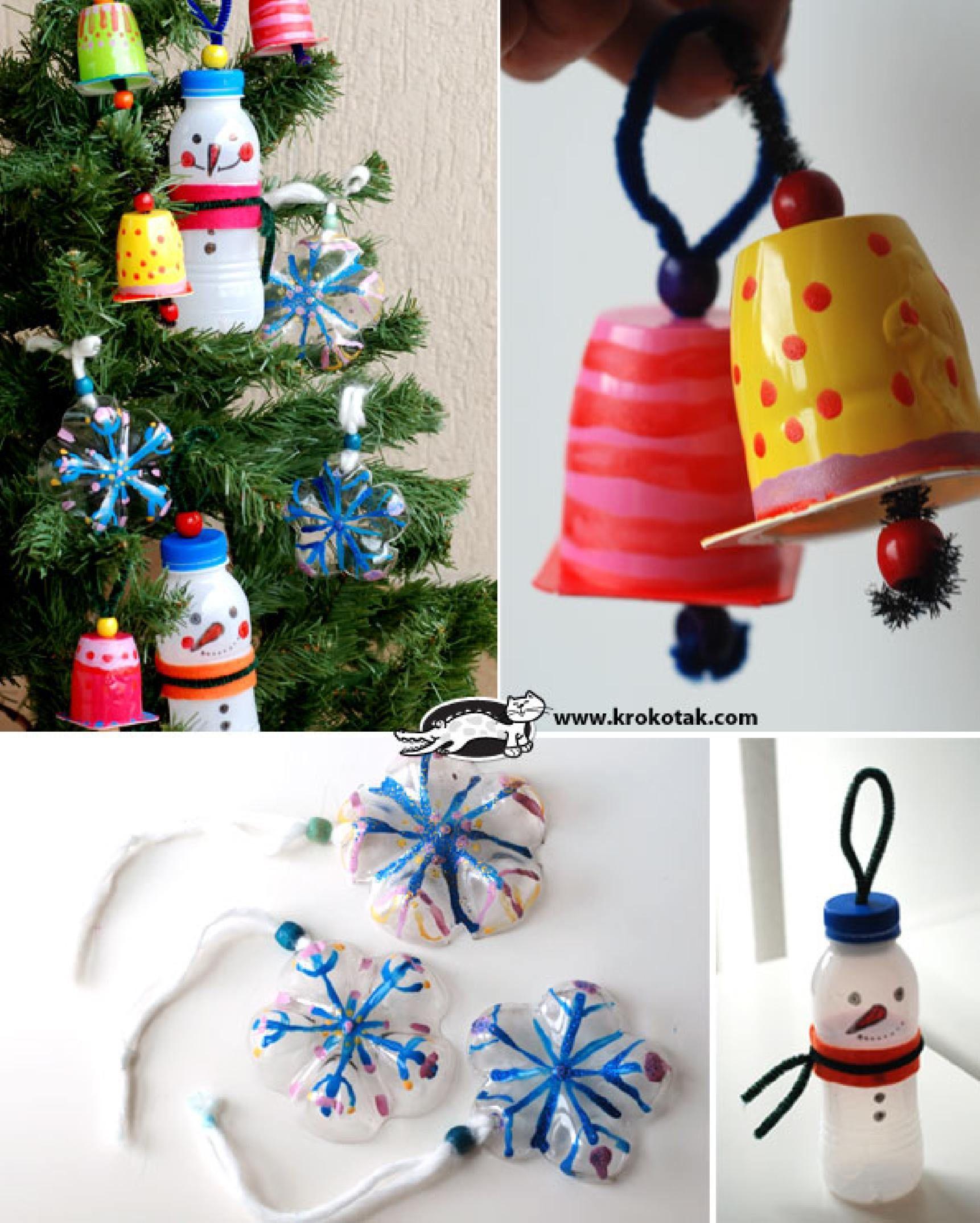 Reciclar botes de pl stico para decorar en navidad