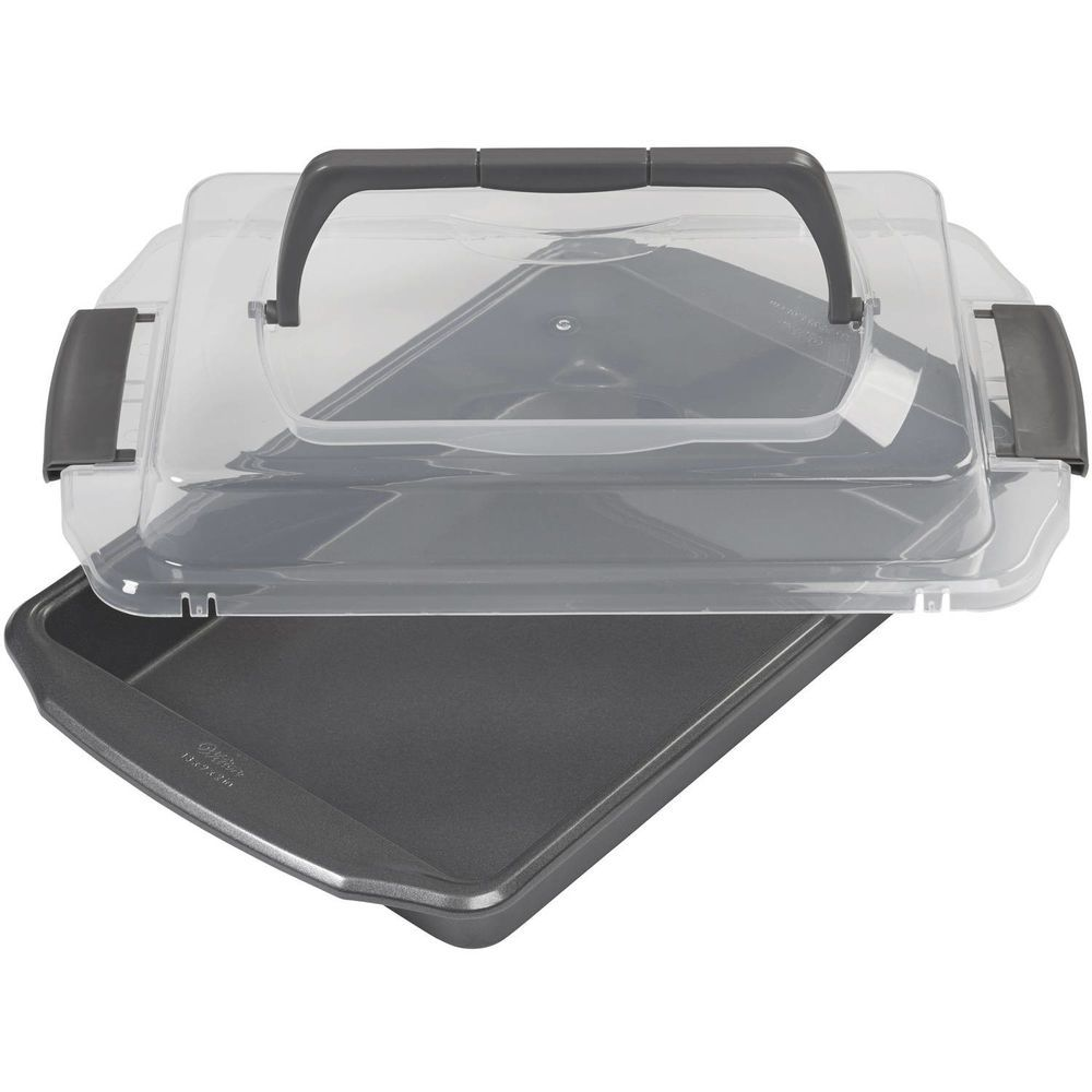 Brownie baking pan with lid oblong nonstick baking pan 9 x