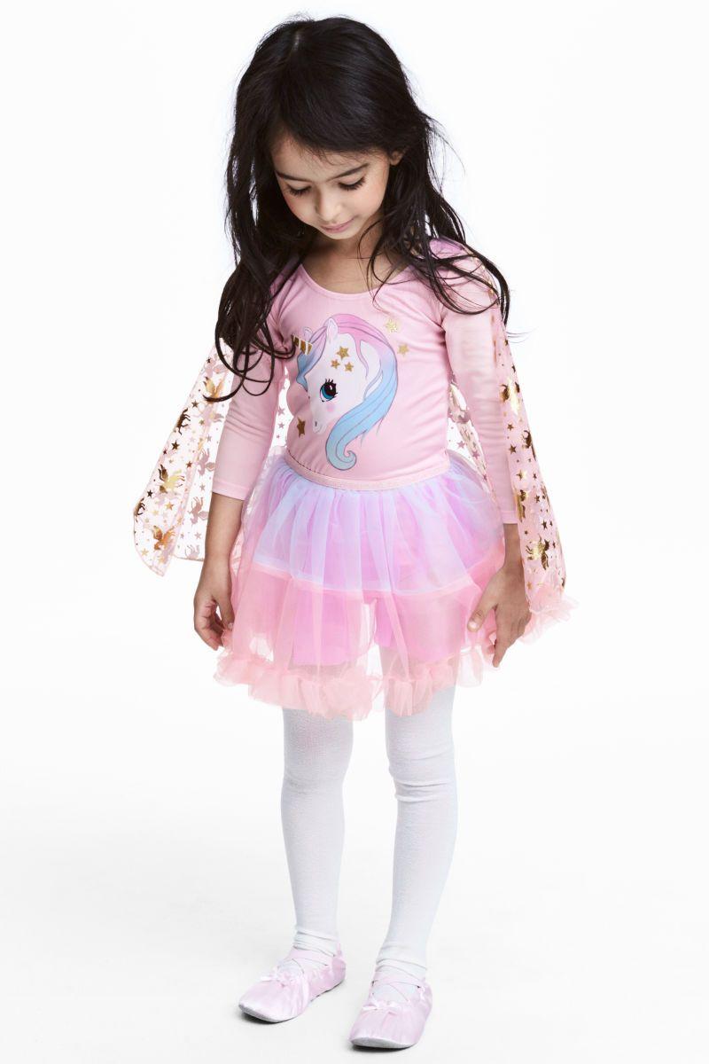 fa9c486bf7 Dance Dress with Tulle Skirt | Pink/unicorn | KIDS | H&M US | Sleep ...