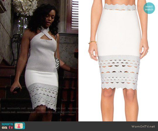 cbaed97ce8a4c8 Hilary s white skirt with cutouts on The Young and the Restless. Outfit  Details  https   wornontv.net 75833   TheYoungandtheRestless