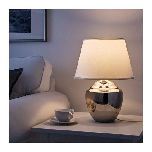 RICKARUM Lampe de table couleur argent 47 cm   Lampes de