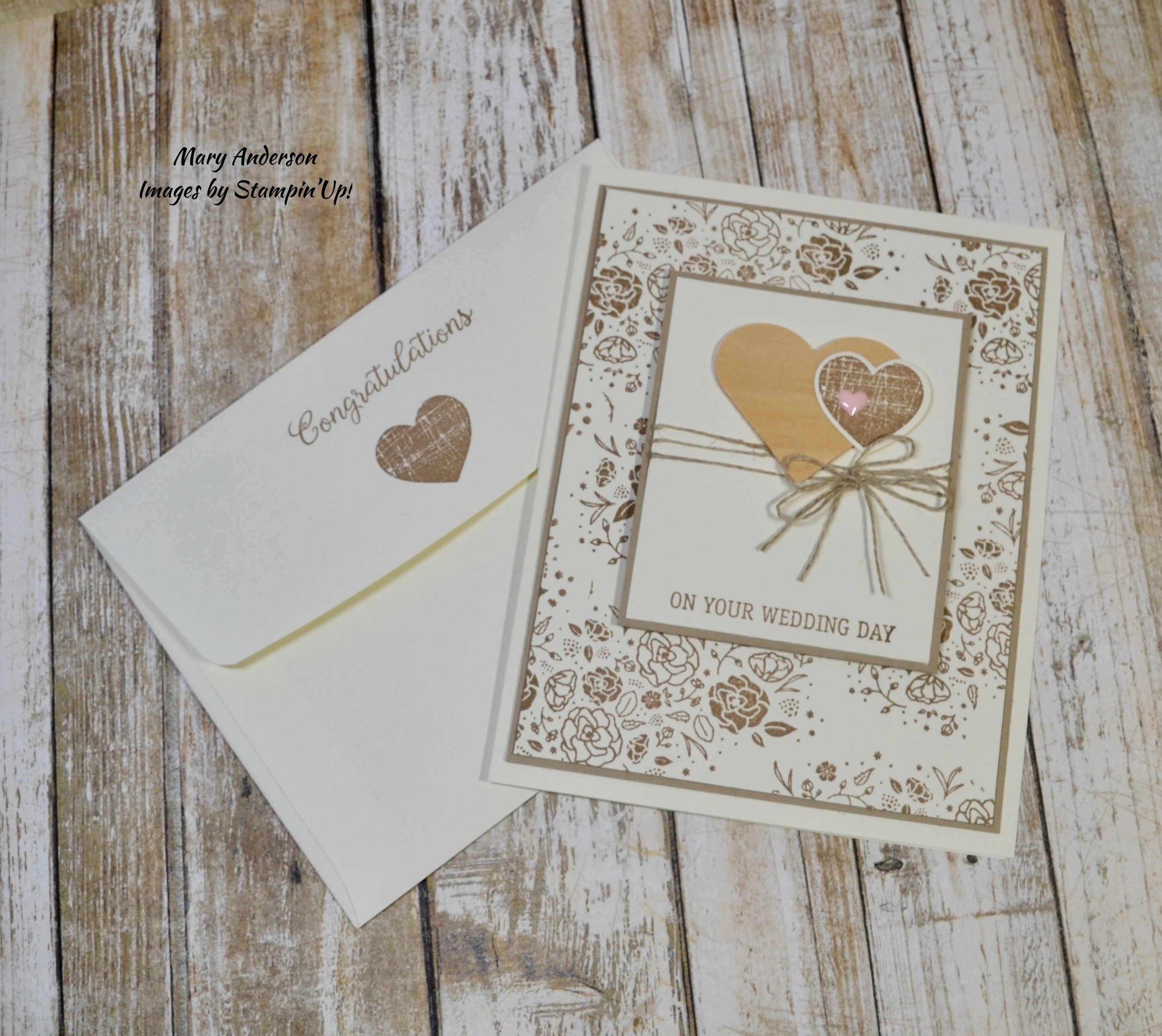 Wood Words Wedding Card Congratulations on your wedding