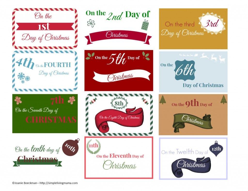 the 12 days of christmas ideas printable gift tags simple living mama - 12 Days Of Christmas Gift Ideas For Boyfriend