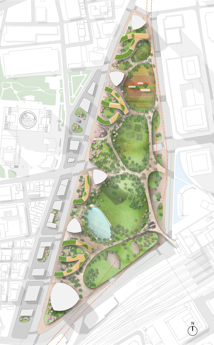 Osaka Station Park Master Plan Pei Cobb Freed Partners Master Plan How To Plan Urban Park