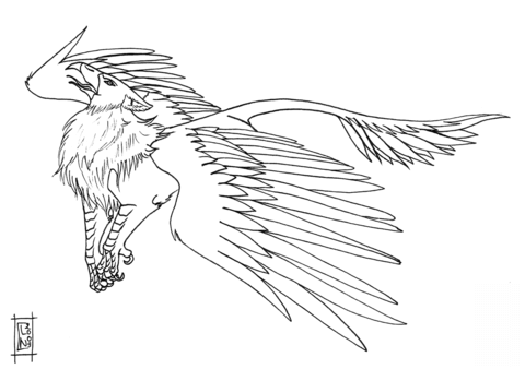 Morh the Griffin Coloring page | Colouring Pages | Pinterest