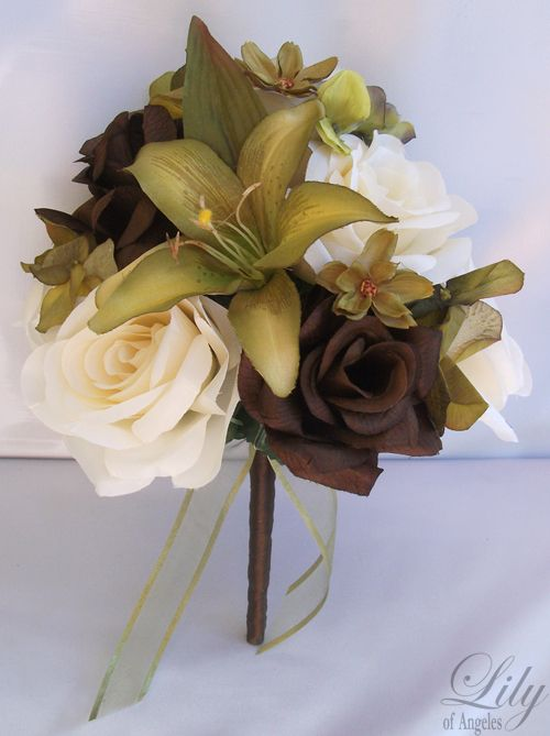 Brown And Sage Green Wedding Wedding Bridal Bride Bouquet