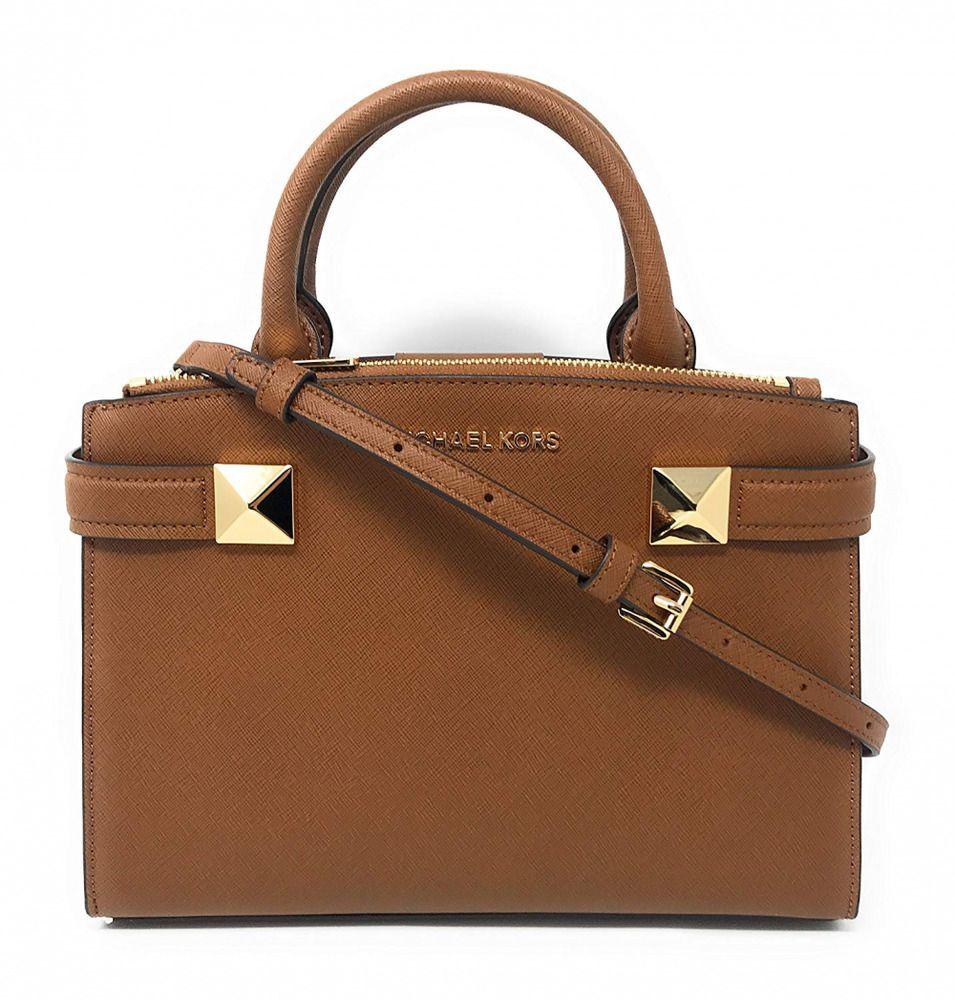 f9c36a388d5474 Michael Kors Karla SM Satchel Leather (35T8MKGS1M) #fashion #clothing  #shoes #