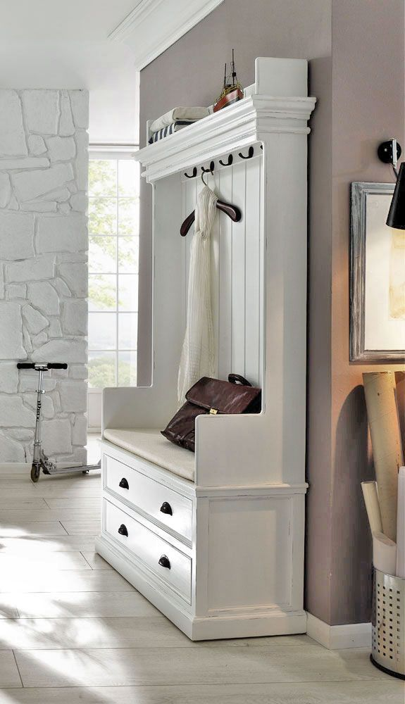 Foyer Coat Storage : Pure utility chic our elegant rustic white coat hanger