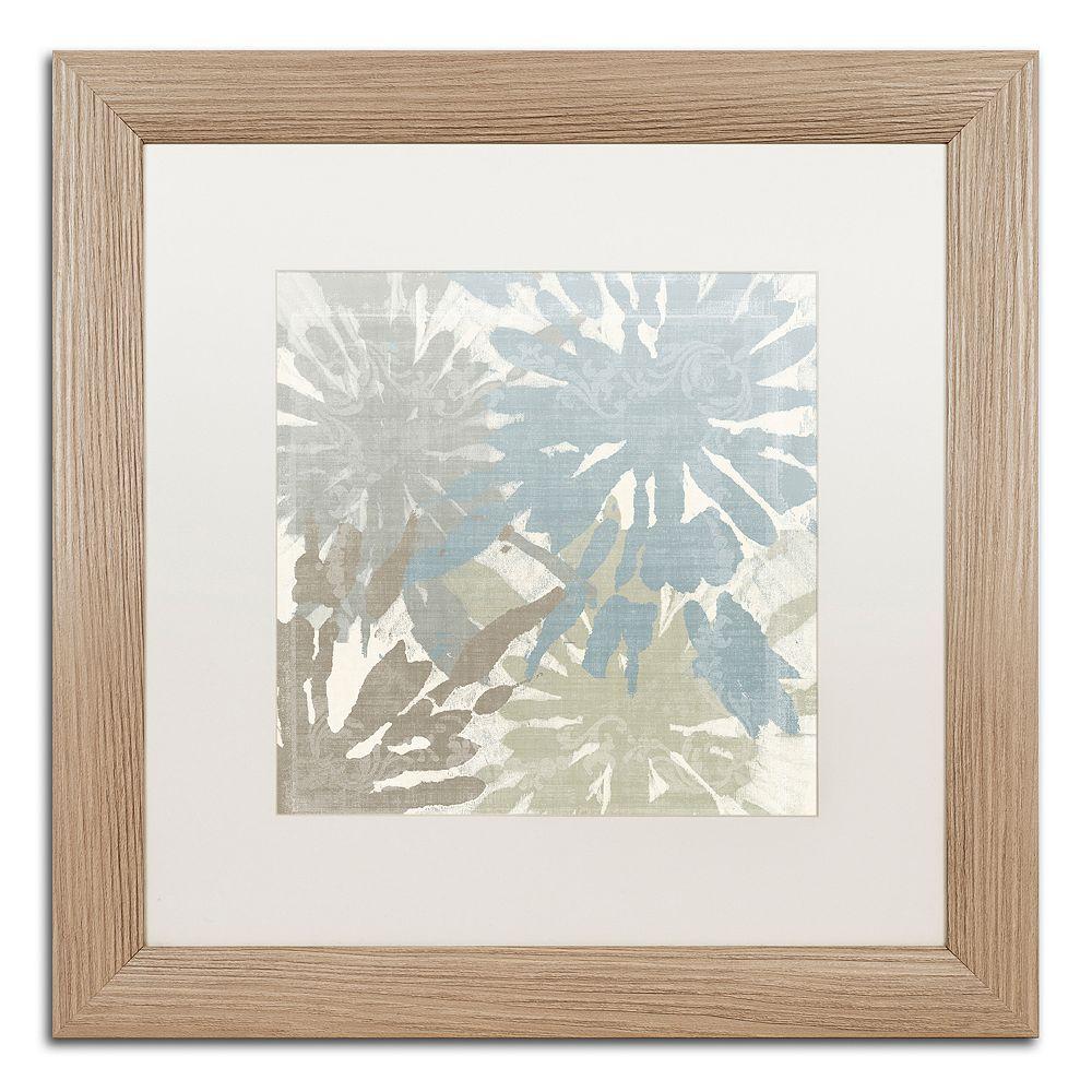 Trademark Fine Art Beach Curry II Distressed Framed Wall Art, White