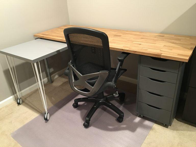 Ikea Hack Custom Transforming Home Office Desks Saving Amy Ikea Office Furniture Furniture Hacks Ikea Hack