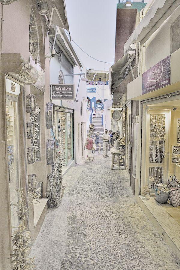 Shopping in Fira, Santorini, Greece