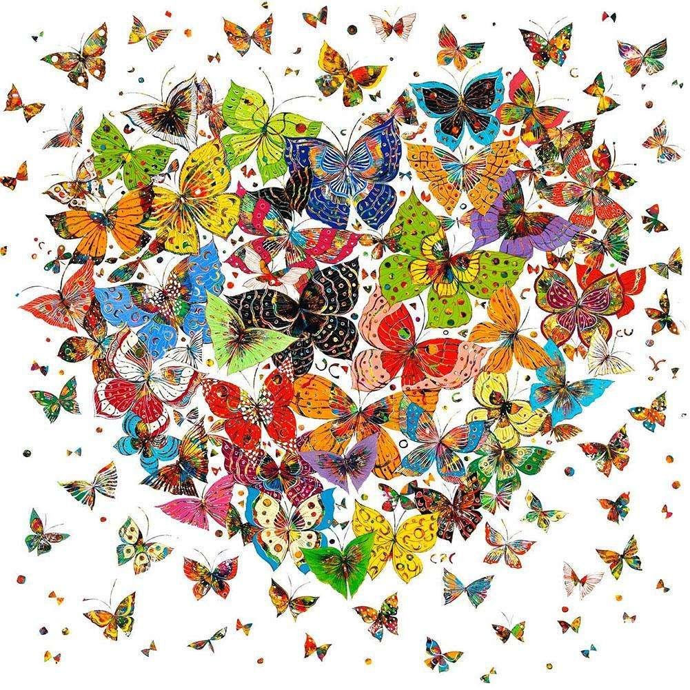 5D Diamond Painting Heart//Animal Embroidery DIY Mosaic Craft Cross Stitch Kits