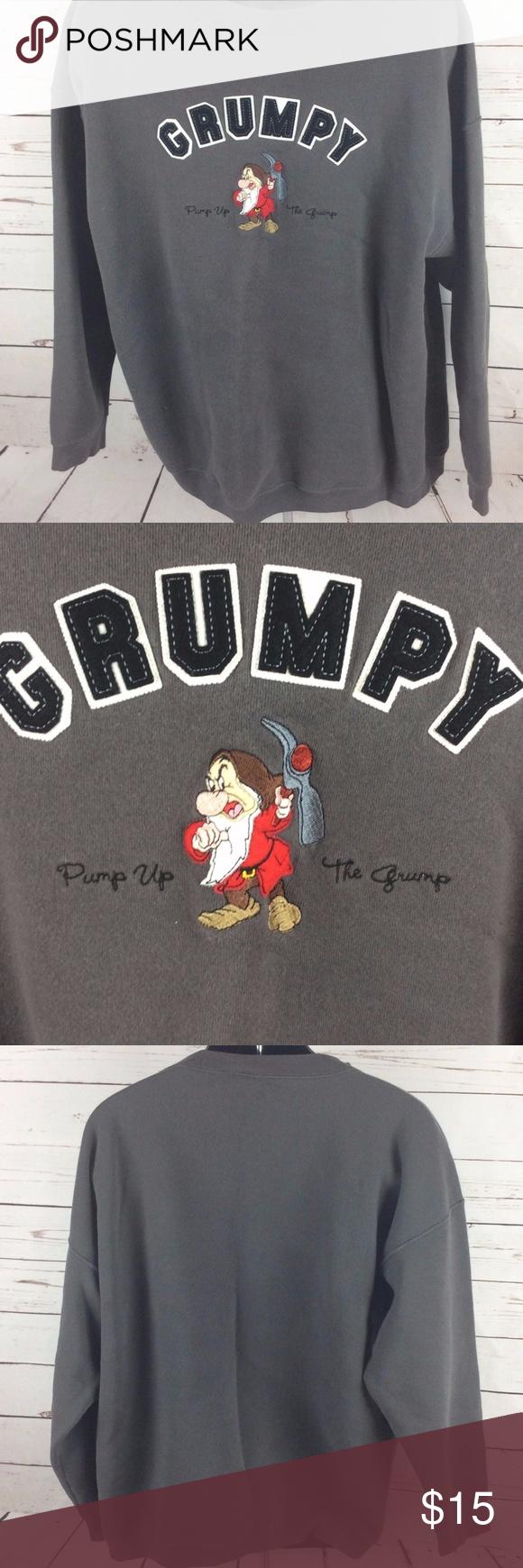 Walt Disney World GRUMPY Pump Up Sweatshirt XL 100 money