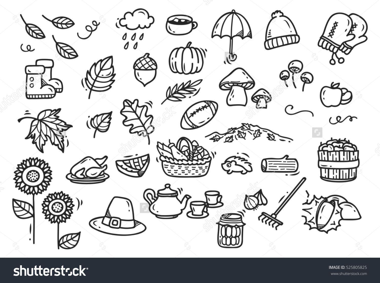 Cute autumn doodle background   Sketchbook Ideas   Autumn ...