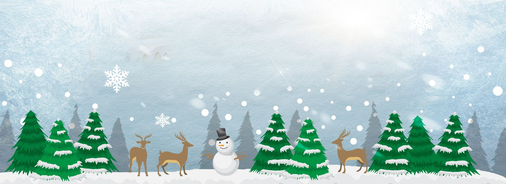 Christmas Snow Winter Cartoon Background Snowman Christmas Tree Winter Cards Cartoon Background