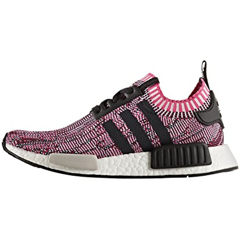 NMD R1 Primeknit Womens in Shock PinkCore Black by Adidas