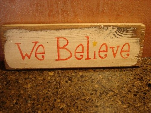 We Believe rustic board sign - Christmas Holiday | MyRusticBoardSigns - Woodworking on ArtFire
