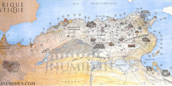93 موقع أثري قديم بشمال إفريقيا إينوميدن North Africa Vintage World Maps Ancient Cities