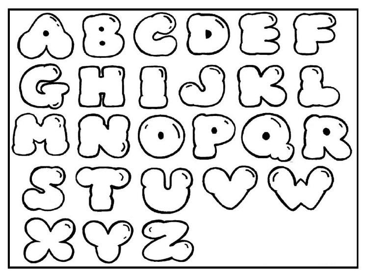 Free Alphabet Coloring Pages A Z With Images Lettering Alphabet Bubble Letters Alphabet Graffiti Lettering