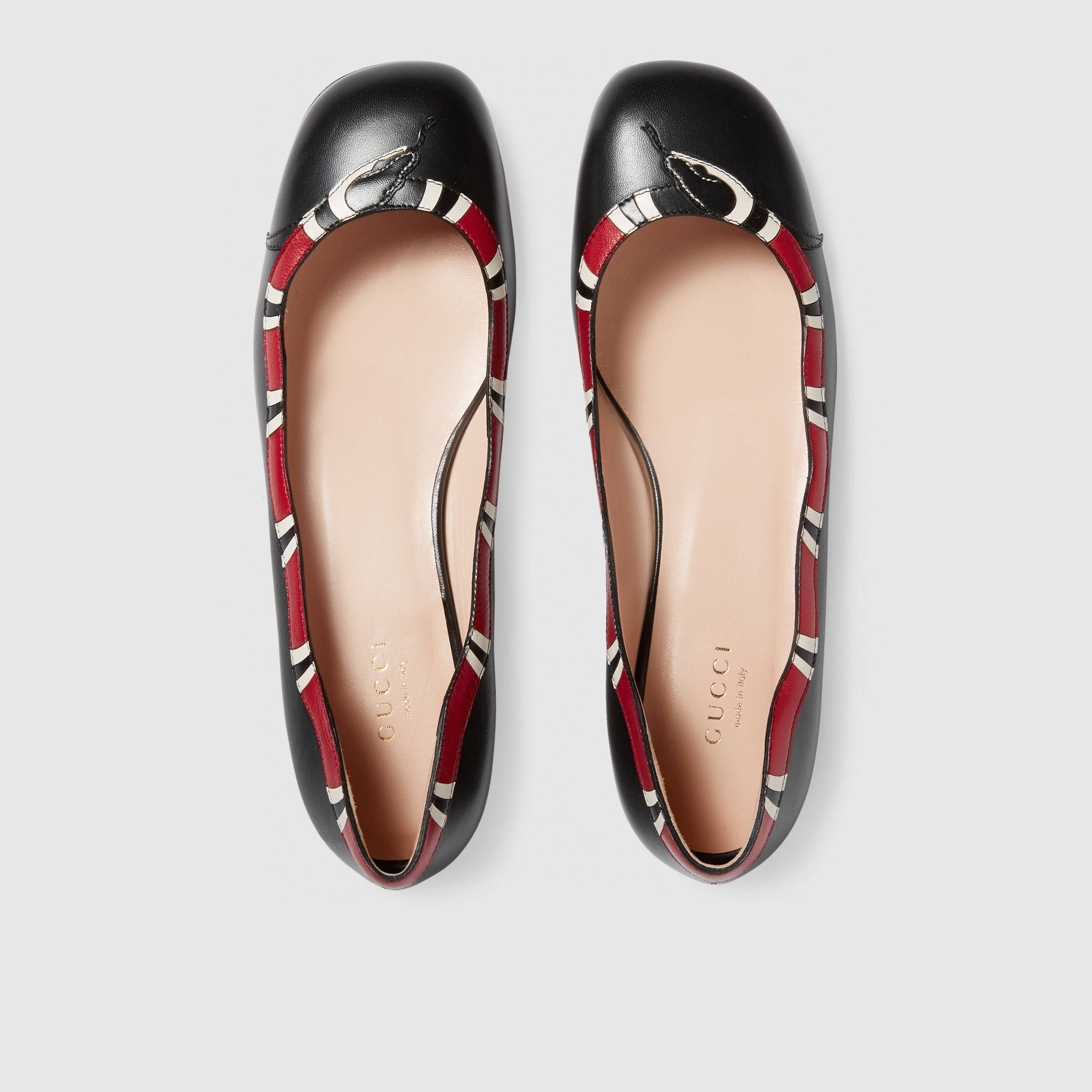 cheaper b58c3 5252f Leather snake ballet flat - Gucci Women's Ballerina Flats ...