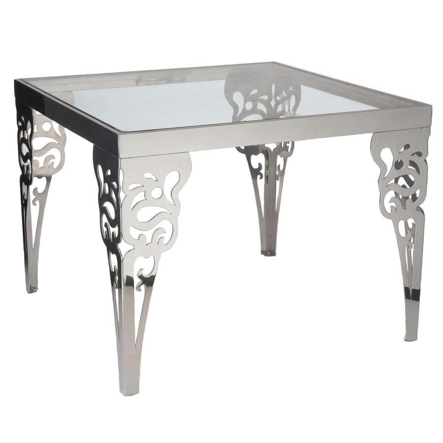 Steel table design the image kid has it for Table exterieur design aluminium