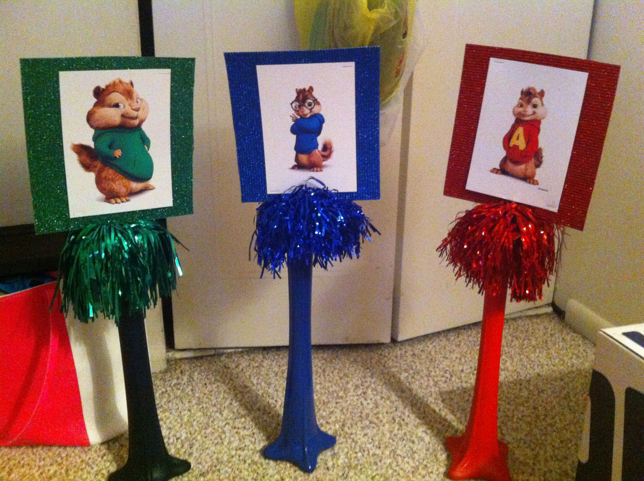 Alvin And The Chipmunks Centerpiece With Images Birthday Party