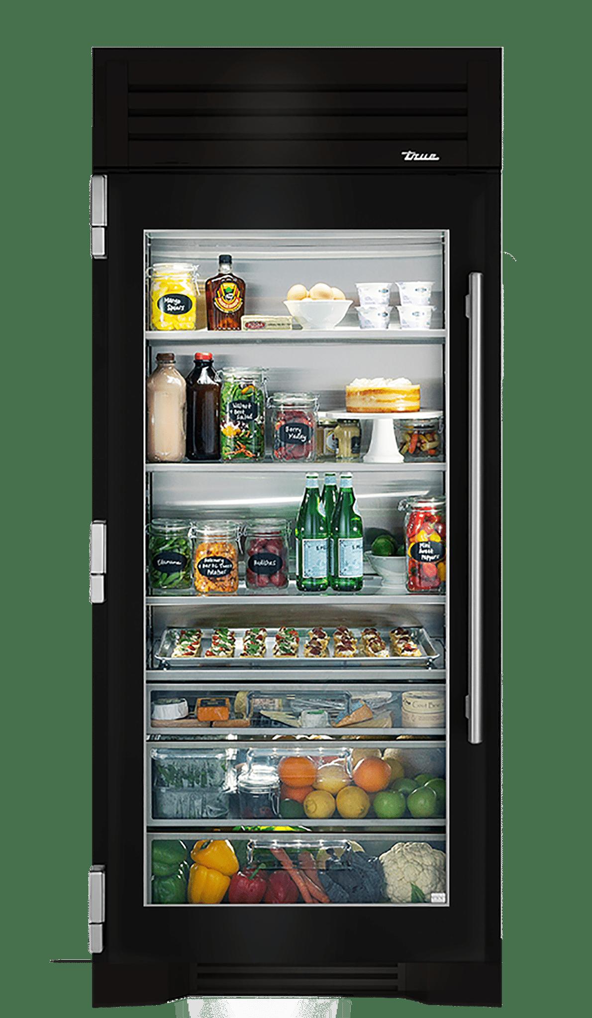36 Glass Door Refrigerator Column True Residential In 2020 Glass Door Refrigerator Glass Door Door Handle Design