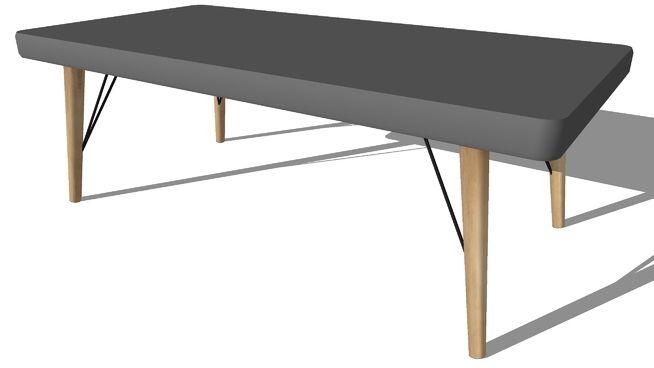 Cleveland table basse en bois grise l 120 cm maisons du monde ref 155794 prix 15990 € 3d warehouse