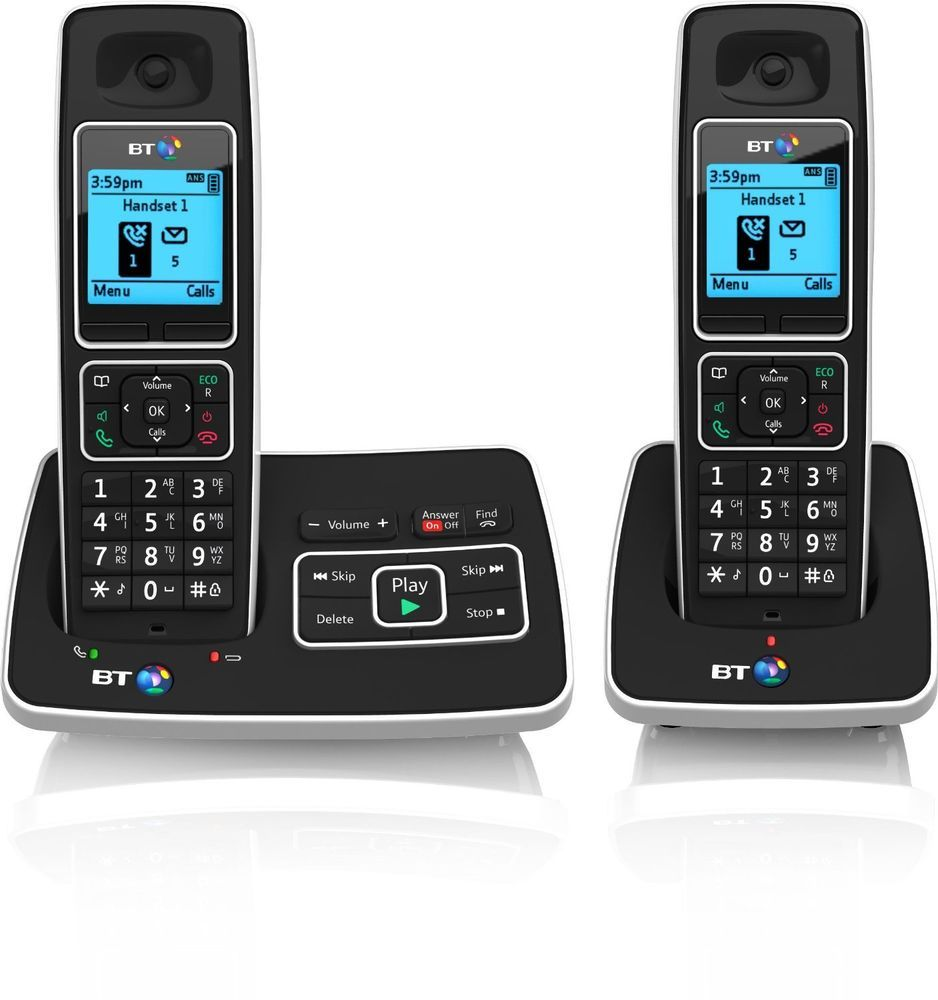 Bt Twin Cordless Phone Pack Digital Dect Answer Machine Landline 2 Handsets Duo Cordless Phone Phone Home Phone
