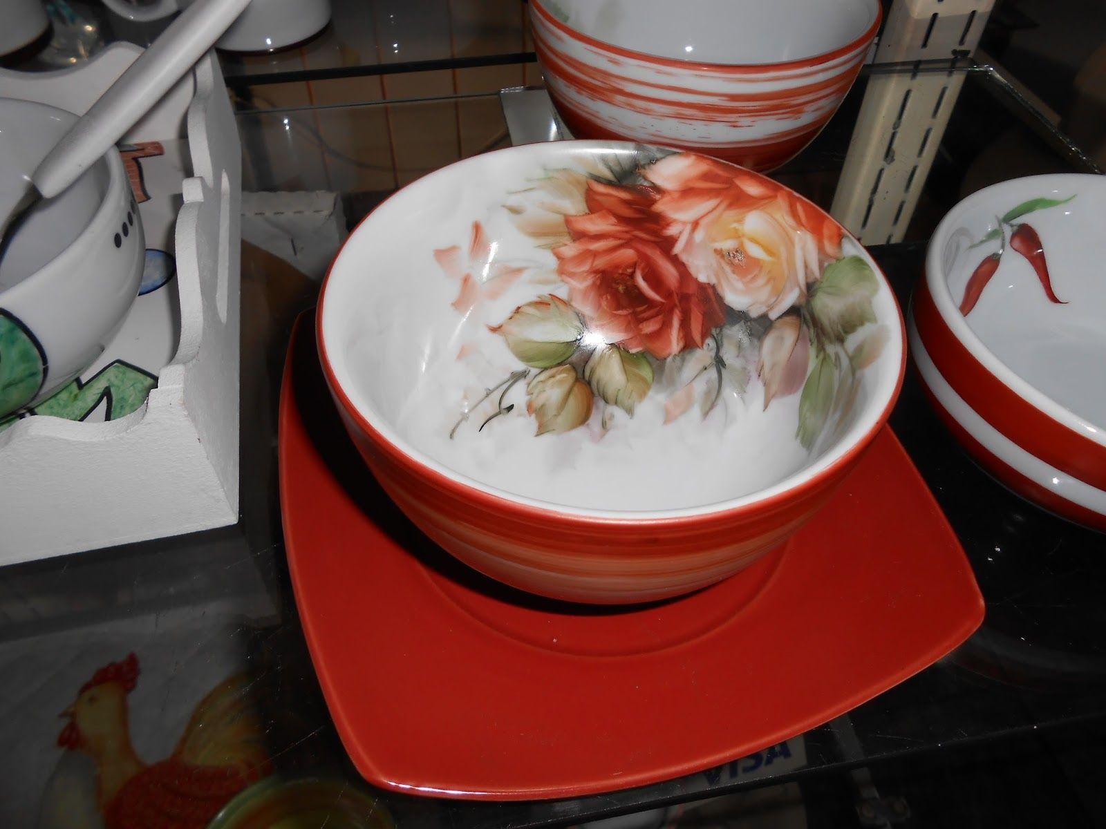 rosas na porcelana