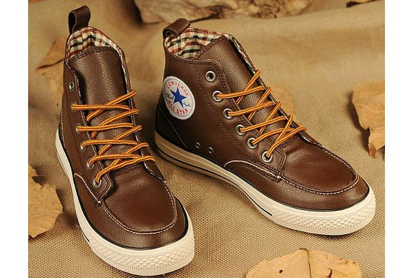 #converse Newest Converse All Star Chuck Taylor High Brown Classic Winter  Leather Boots | allstar | Pinterest | Converse, Star and Brown