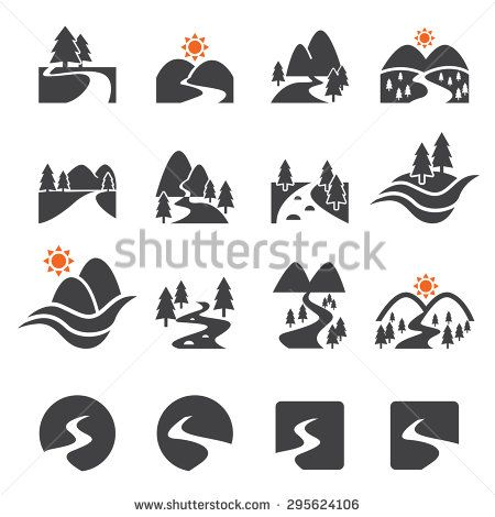 river icon set icon set business icons vector river logo icon set business icons vector river logo