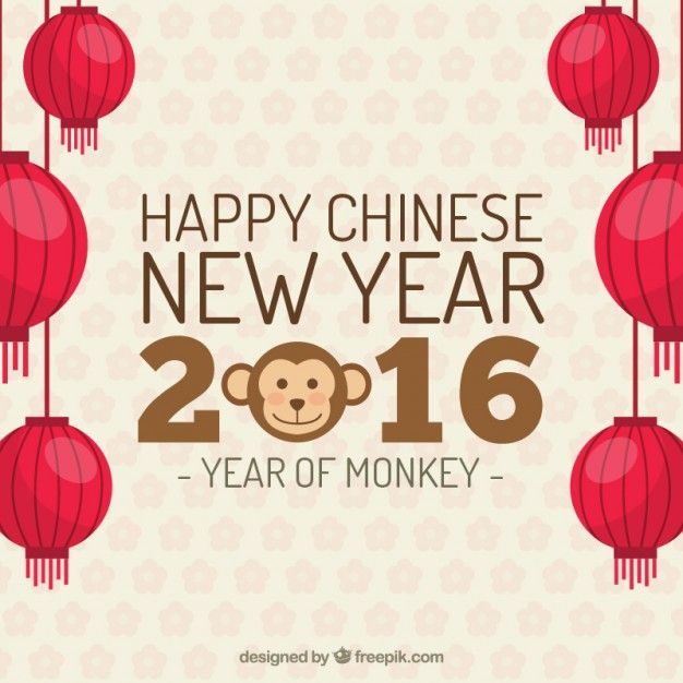 happy chinese new year background free vector