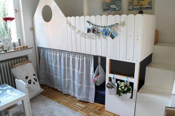 Kinderzimmer Makeover mit IKEA Kura Hack Kinder zimmer