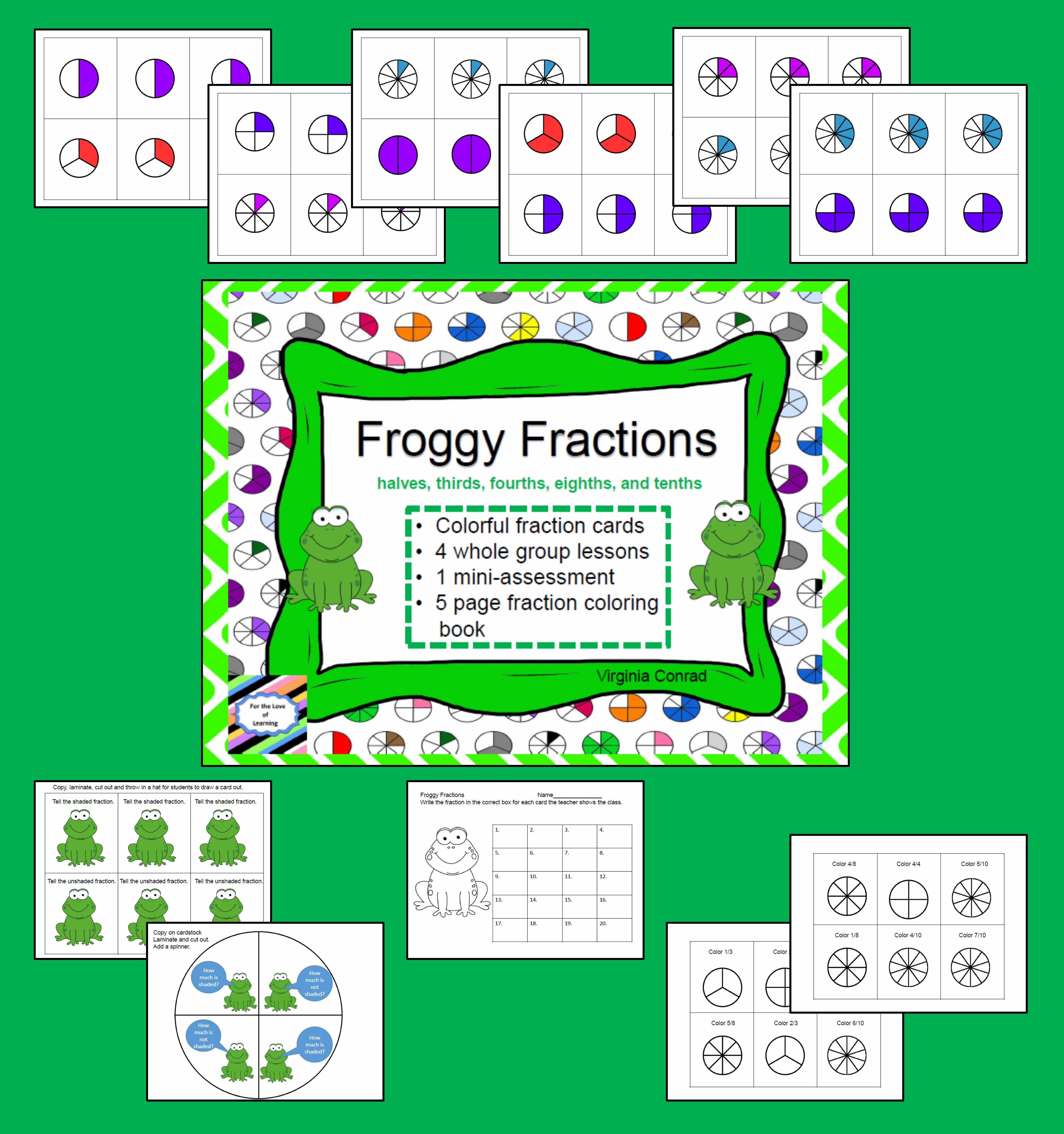 Fractions Activities And Coloring Booklet