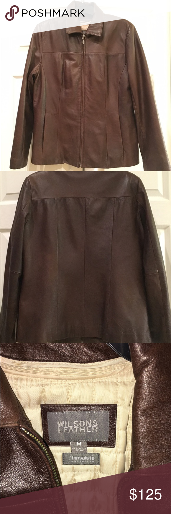 Leather jacket conditioner - Pre D Wilsons Leather Brown Coat