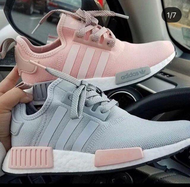 Tênis Adidas NMD cinza e rosa | Modinha | Tenis nmd, Tenis