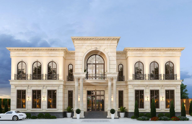 Neoclassical Palace Design Al Doha Qatar Cas Classic House Exterior Classic House Design Neoclassical Architecture