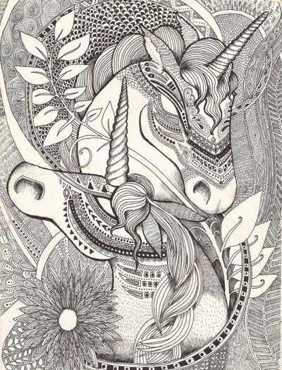 Inner princess Unicorn Art Print. Amazingly complex line art ...