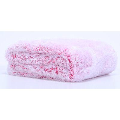 Berkshire Blanket Frosted Tip Fluffy Baby Blanket Color: Raspberry ...