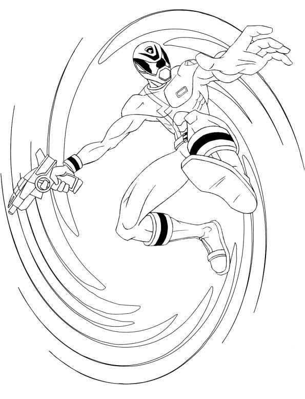 Power Ranger Red SPD Coloring Pages