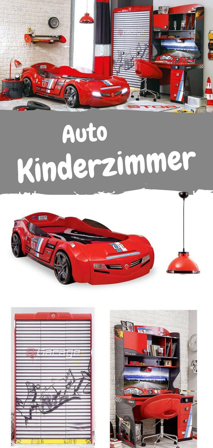Komplettes Kinderzimmer Set für Rennfahrer. Kindermöbel im
