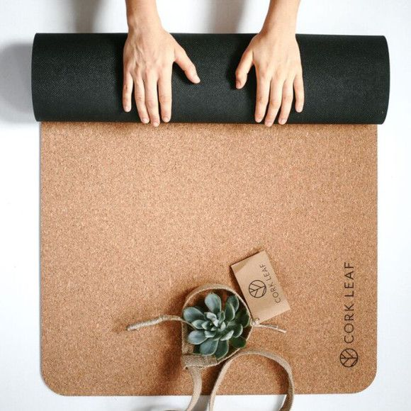 Cork yoga mat | hardtofind.
