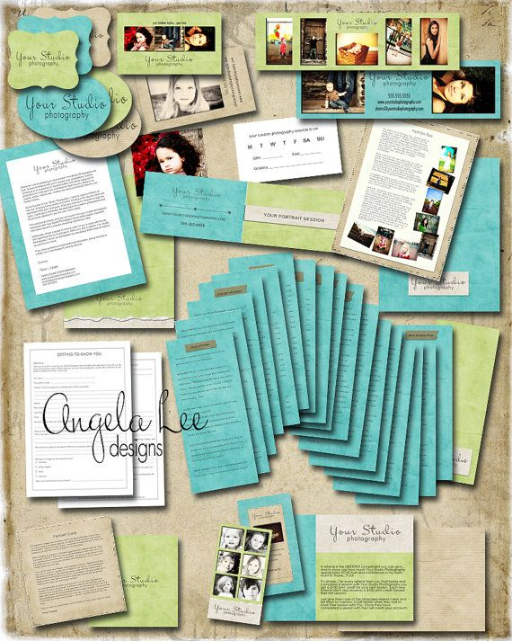Shabby Welcome Packet Template Everything you need to make a