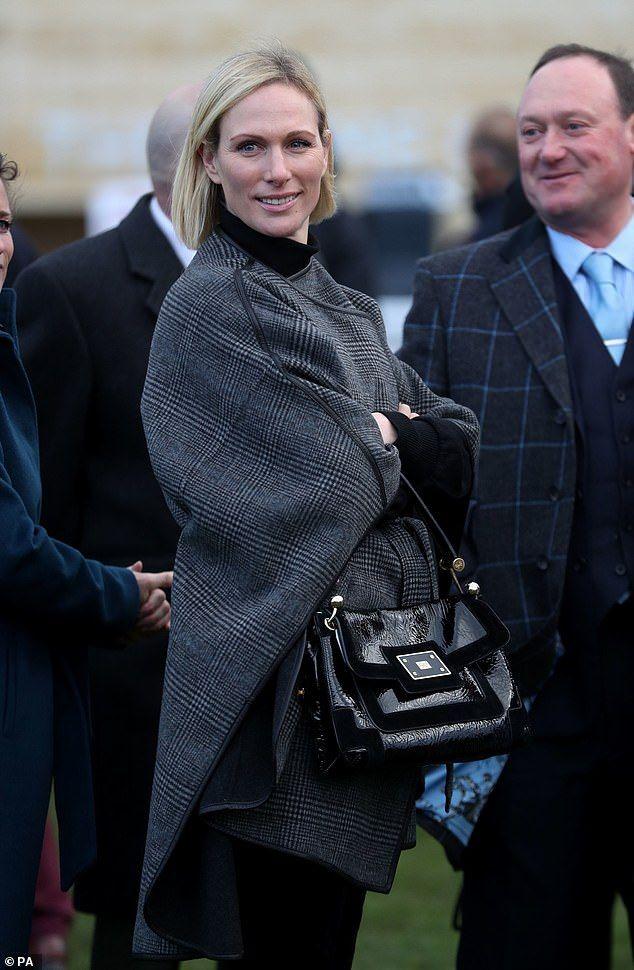 Dressed down Zara Tindall arrives at Cheltenham Racecourse ...