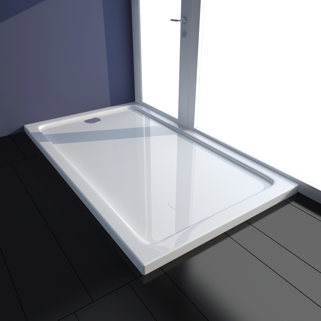 Brodzik prysznicowy prostokątny, ABS, biały, 70 x 120 cm